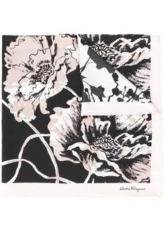 Ferragamo silk flower print scarf