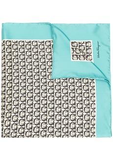 Ferragamo silk printed Gancini scarf