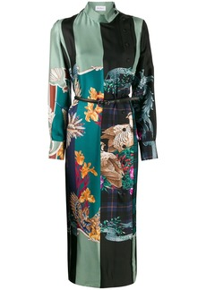 Ferragamo silk Susanne midi dress