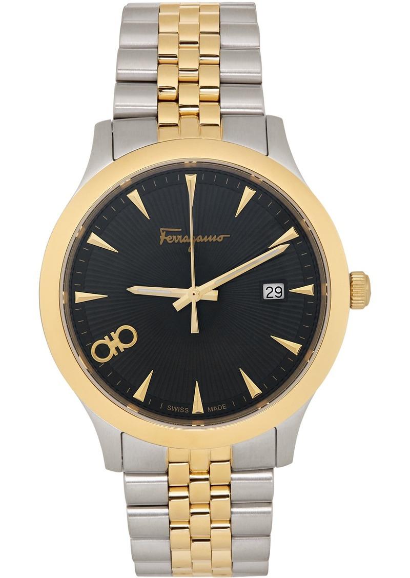 Ferragamo Silver & Gold Duo 40MM Watch