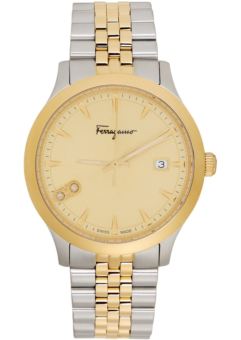 Ferragamo Silver & Gold Duo Watch