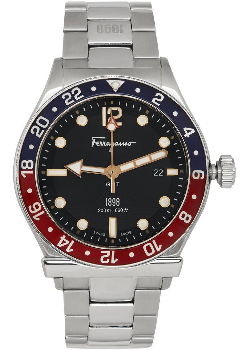 Ferragamo Silver 1898 GMT Watch