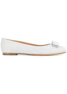 Ferragamo silver ballerina shoes