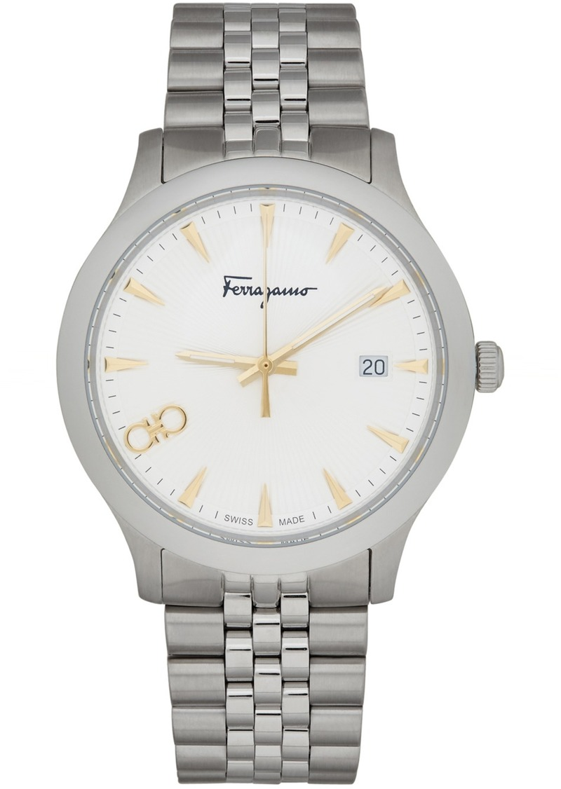Ferragamo Silver Duo Watch