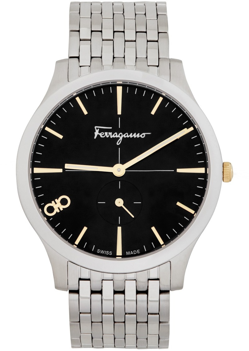Silver 'Ferragamo' Slim Watch