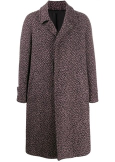 Ferragamo single-breasted two tone coat