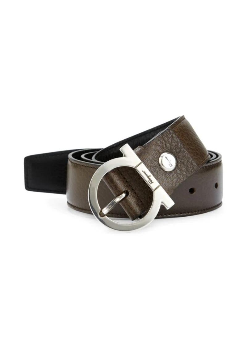 Ferragamo Single Gancio Reversible Leather Belt