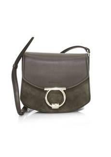 Ferragamo Small Margot Leather Saddle Bag