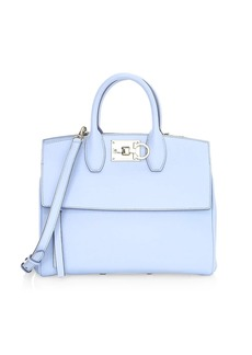 Ferragamo Small Studio Leather Top Handle Bag