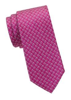 Ferragamo Snail-Print Silk Tie