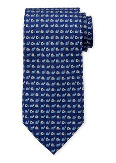 Ferragamo Snails Silk Tie