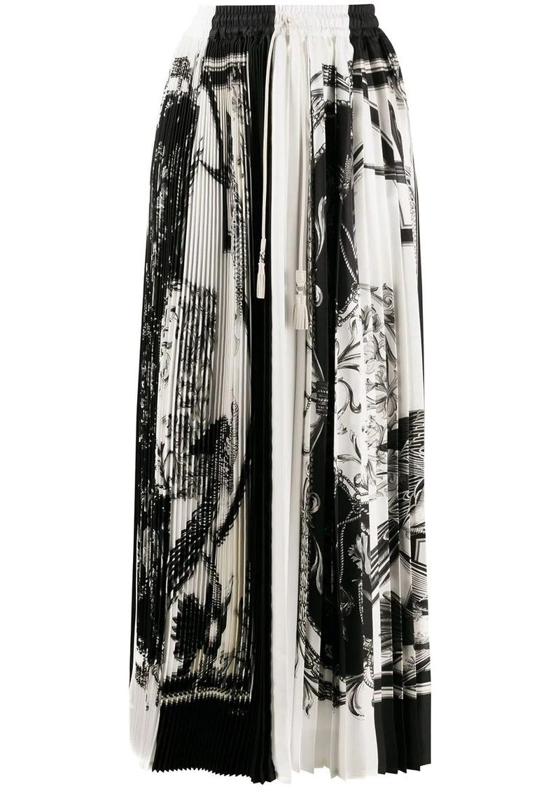 Ferragamo soleil pleated maxi skirt