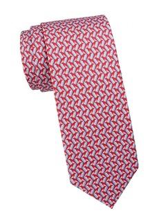 Ferragamo Spray Can Print Silk Tie