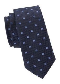 Ferragamo Square Gancini Jacquard Silk Tie
