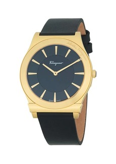 Ferragamo Stainless Steel & Leather-Strap Watch