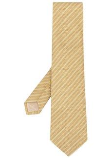 Ferragamo stripe Gancini print tie