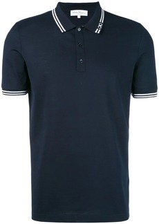Ferragamo stripe-trim polo shirt