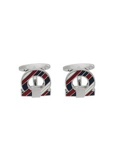 Ferragamo striped Gancio cufflinks