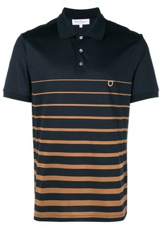 Ferragamo striped logo polo shirt
