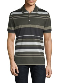 Ferragamo Striped Pique Polo