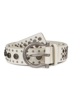 Ferragamo Studded Leather Belt