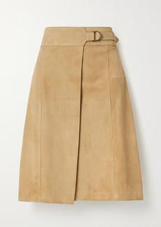 Ferragamo Suede Wrap Skirt