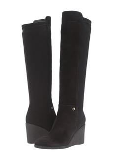 Ferragamo Tall Suede/Velvet Boot