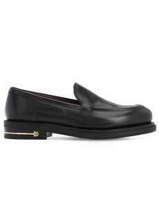 Ferragamo Teeth 3 Calfskin Leather Loafers