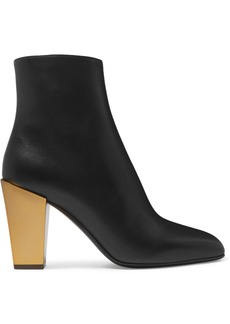 Ferragamo Teti Leather Ankle Boots