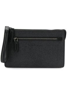 Ferragamo textured clutch bag