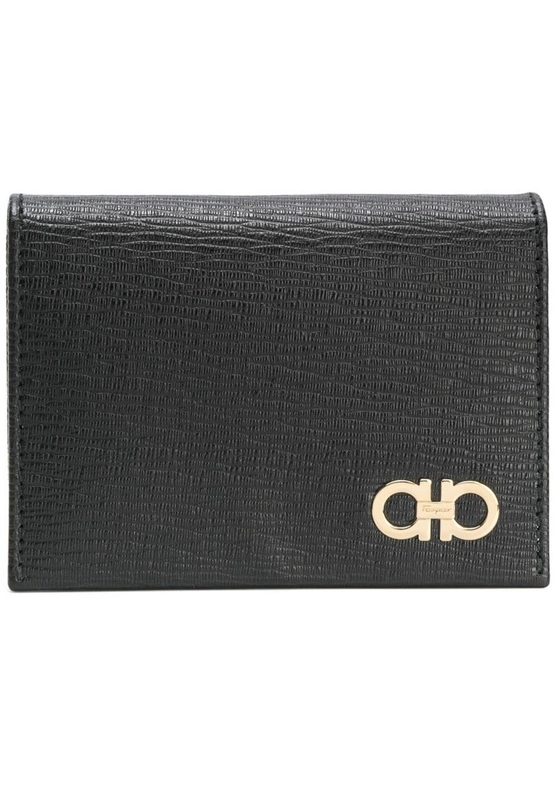 Ferragamo textured double Gancio wallet