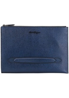 Ferragamo textured leather clutch bag