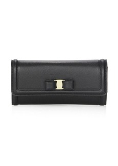 Ferragamo Vara Bow Leather Continental Wallet