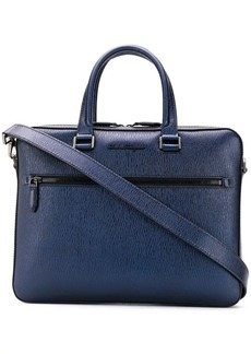Ferragamo textured leather laptop case