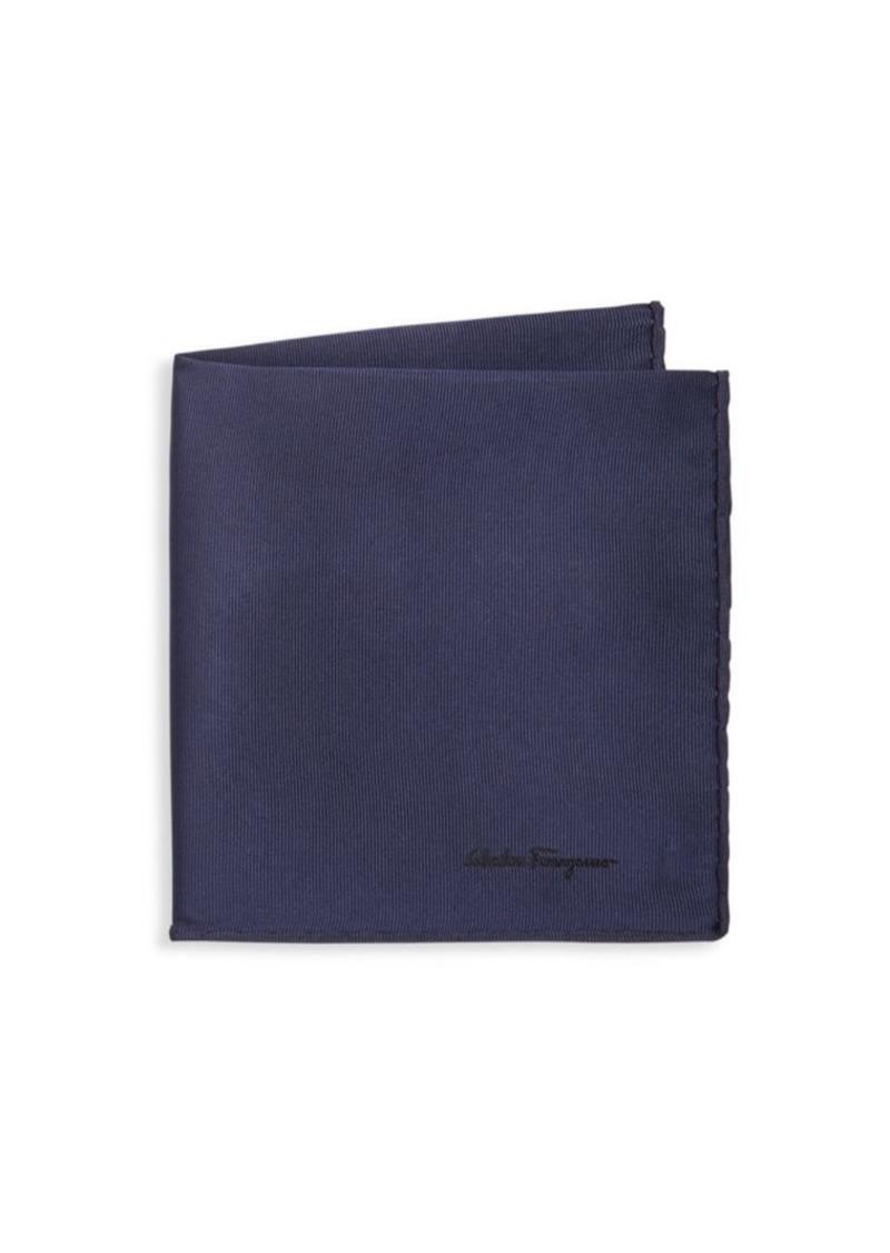 Ferragamo Textured Silk Pocket Square