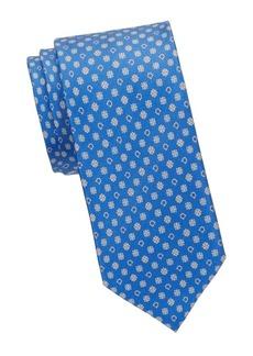 Ferragamo Textured Slim Silk Tie