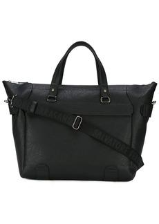 Ferragamo textured weekender bag