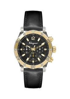 Ferragamo Time Sport Two-Tone Stainless Steel Chronograph Watch