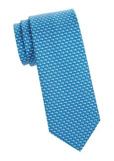 Ferragamo Tito Arrow Print Silk Tie