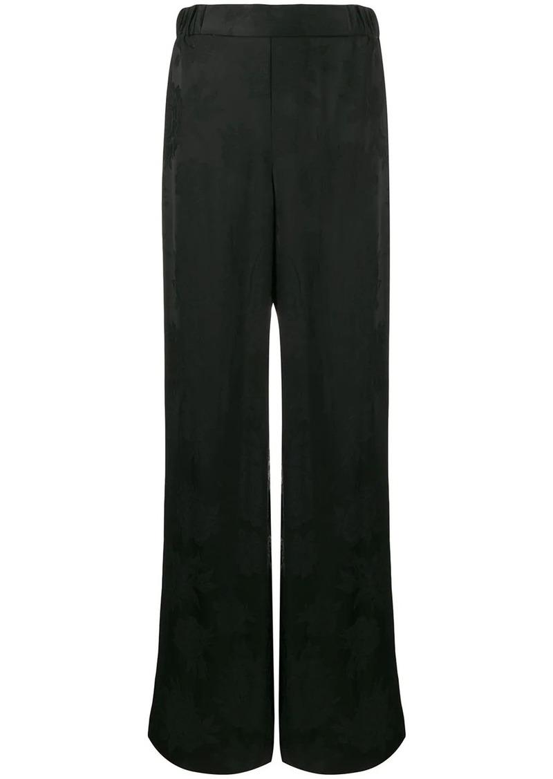 Ferragamo tonal floral high-rise trousers