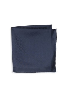Ferragamo Tonal Gancini Silk Pocket Square