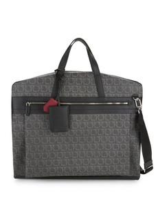 Ferragamo Travel Gancini Print Garment Bag