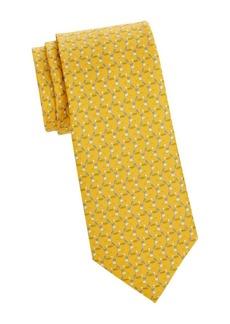 Ferragamo Tren Print Silk Tie