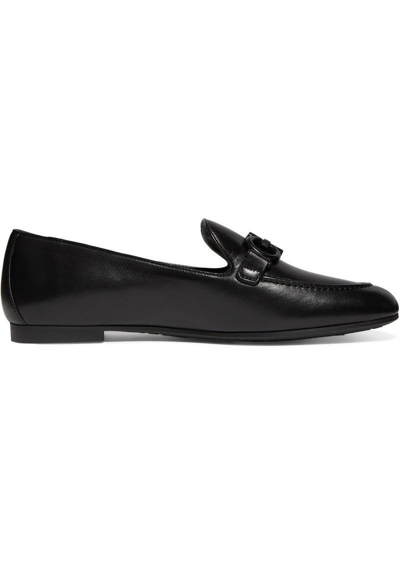 Ferragamo Trifoglio Embellished Leather Loafers
