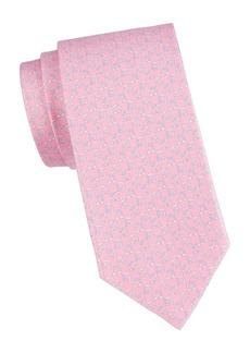 Ferragamo Two-Tone Gancini Logo Silk Tie