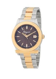 Ferragamo Two-Tone Stainless Steel Bracelet Analog Watch