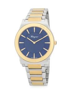 Ferragamo Two-Tone Stainless Steel Bracelet Watch