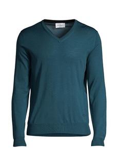 Ferragamo V-Neck Virgin Wool Sweater