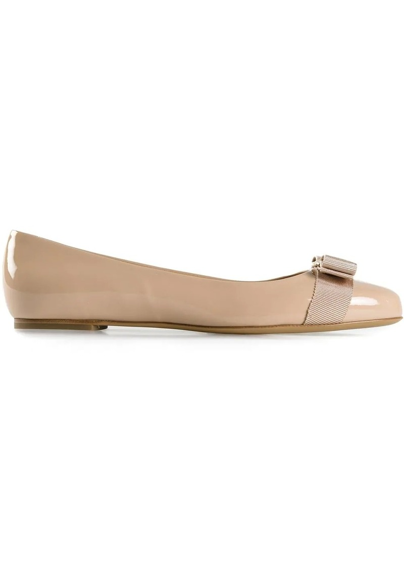 Ferragamo Vara Bow ballerina shoes