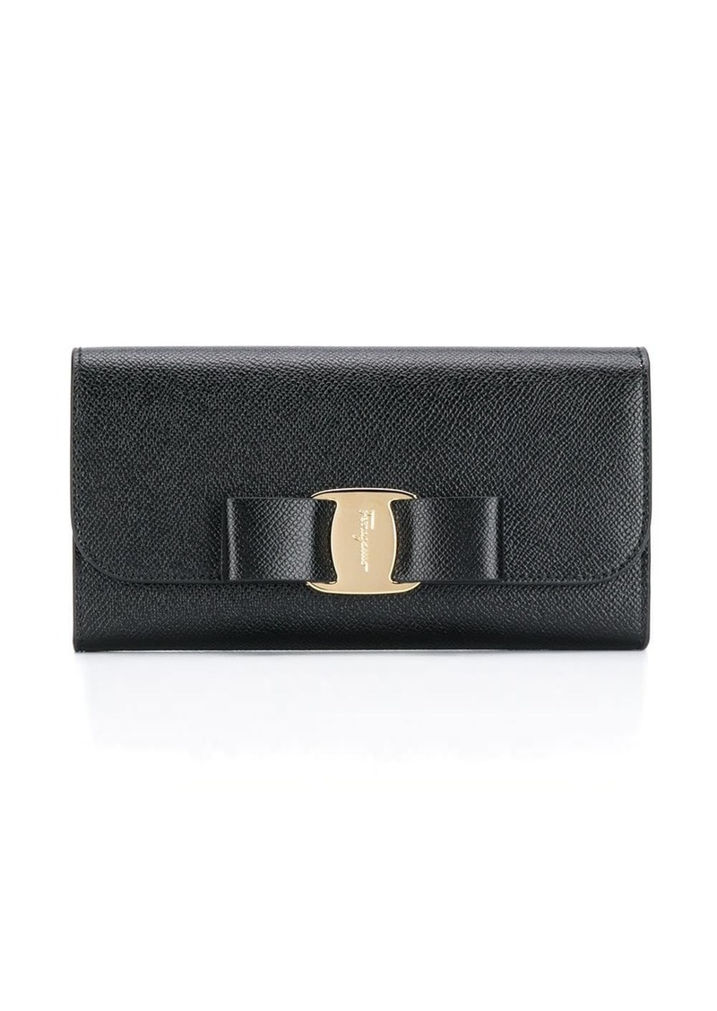 Ferragamo Vara Bow continental wallet